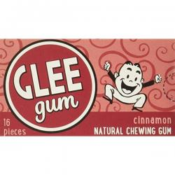 "All Natural Glee ""Cinnamon"" CHEWING GUM (Aspartame FREE) / 12- Standard Boxes (16 pieces each)"