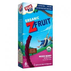 Clif Kid Organic FRUIT ROPES Mixed Berry/1 pkg of 6 Ropes